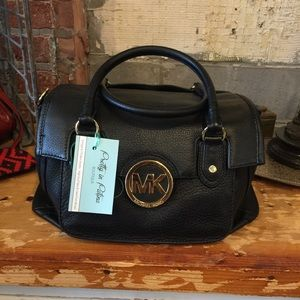 Michael Kors Black Flap Satchel